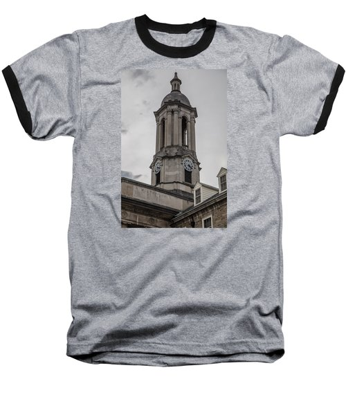 Old Main Penn State Clock  Baseball T-Shirt by John McGraw