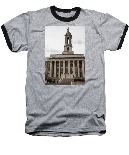 Old Main Penn State From Front  Baseball T-Shirt by John McGraw