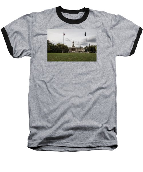 Old Main Penn State Wide Shot  Baseball T-Shirt by John McGraw