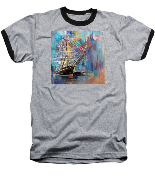 Old Ship 226 1 Baseball T-Shirt by Mawra Tahreem