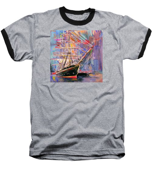 Old Ship 226 4 Baseball T-Shirt by Mawra Tahreem