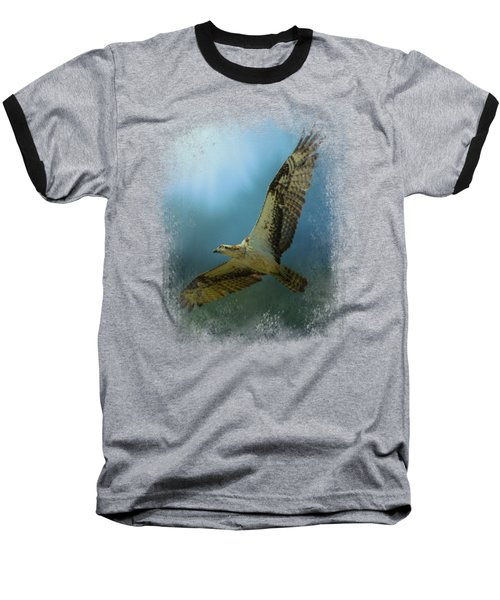 Osprey In The Evening Light Baseball T-Shirt by Jai Johnson