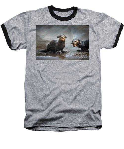 Otter Pup Pair Baseball T-Shirt by Jamie Pham
