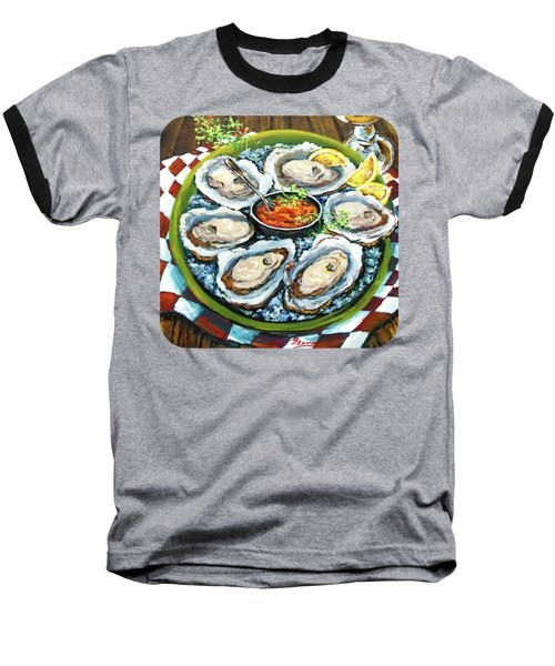 Oysters On The Half Shell Baseball T-Shirt by Dianne Parks