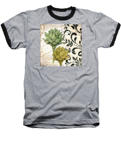 Paris Artichokes Baseball T-Shirt by Mindy Sommers