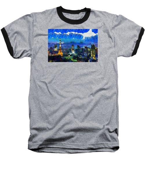 Paris Inside Tokyo Baseball T-Shirt by Sir Josef Social Critic - ART