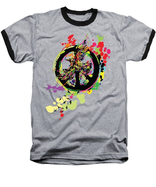 Peace And Peace Baseball T-Shirt by Cindy Shim