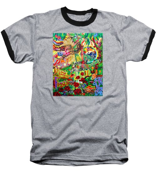 Peach Music Festival 2015 Baseball T-Shirt by Kevin J Cooper Artwork