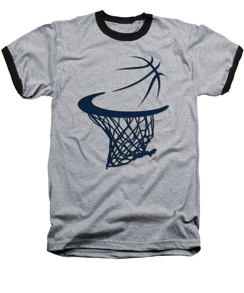 Pelicans Basketball Hoop Baseball T-Shirt by Joe Hamilton