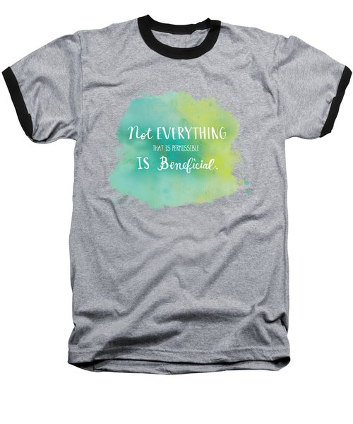 Permissible Baseball T-Shirt by Nancy Ingersoll