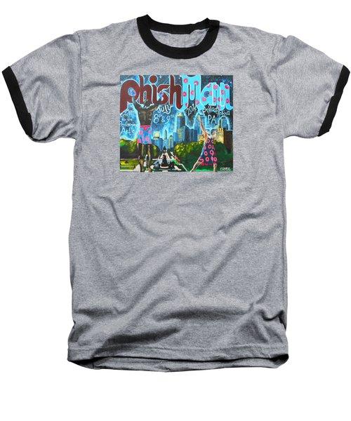Phishmann Baseball T-Shirt by Kevin J Cooper Artwork