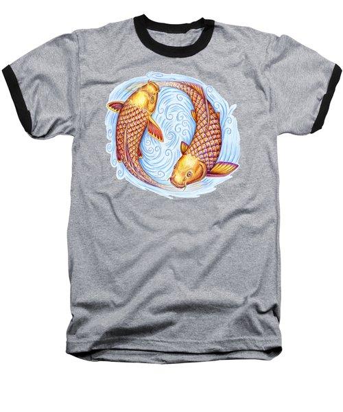 Pisces Baseball T-Shirt by Rebecca Wang
