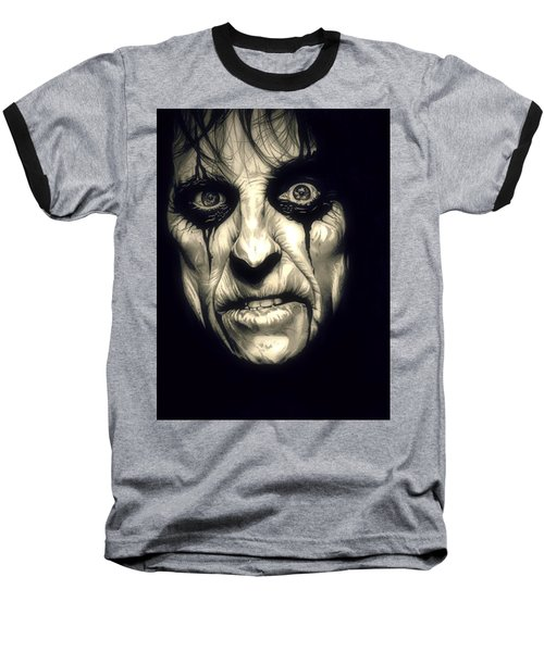 Poison Alice Cooper Baseball T-Shirt by Fred Larucci