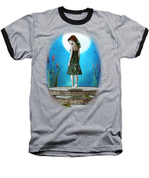 Pond Of Dreams Baseball T-Shirt by Brandy Thomas