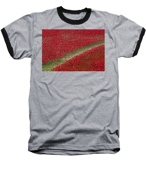Poppies Of Remembrance Baseball T-Shirt by Martin Newman