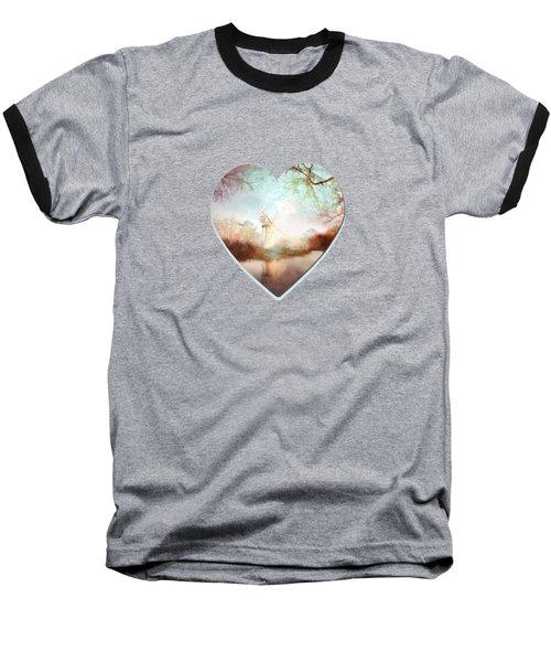 Porcelain Skies Baseball T-Shirt by Valerie Anne Kelly