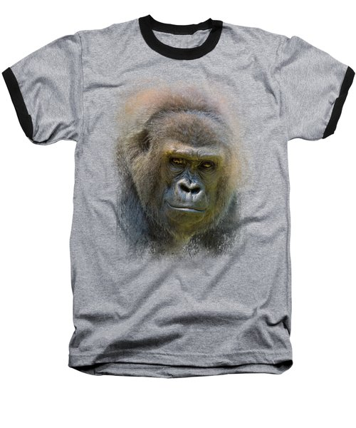 Portrait Of A Gorilla Baseball T-Shirt by Jai Johnson