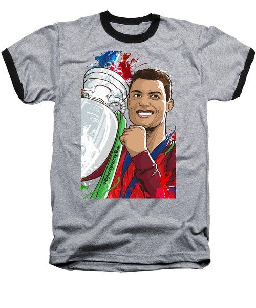 Portugal Campeoes Da Europa Baseball T-Shirt by Akyanyme