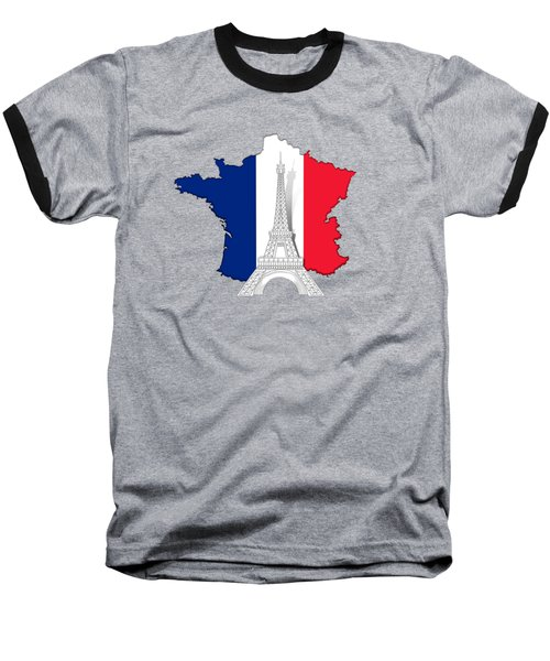 Pray For Paris Baseball T-Shirt by Bedros Awak
