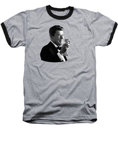President Reagan Making A Toast Baseball T-Shirt by War Is Hell Store