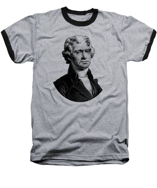 President Thomas Jefferson Graphic Baseball T-Shirt by War Is Hell Store