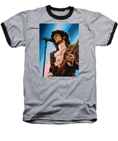 Prince Painting Baseball T-Shirt by Paul Meijering