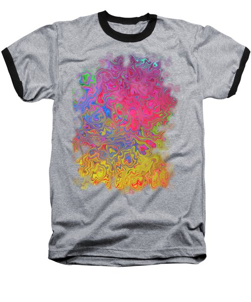 Psychedelic Laundry Transparent Design Baseball T-Shirt by Shelly Weingart