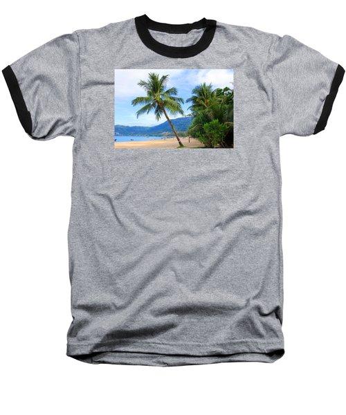 Phuket Patong Beach Baseball T-Shirt by Mark Ashkenazi