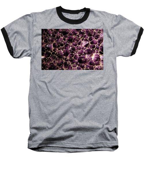 Purple Quartz  Amethyst Baseball T-Shirt by LeeAnn McLaneGoetz McLaneGoetzStudioLLCcom