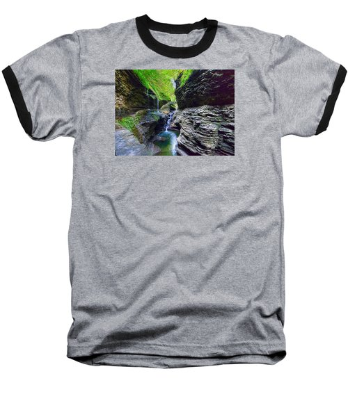 Baseball T-Shirt featuring the photograph Rainbow Bridge And Falls by Rodney Campbell
