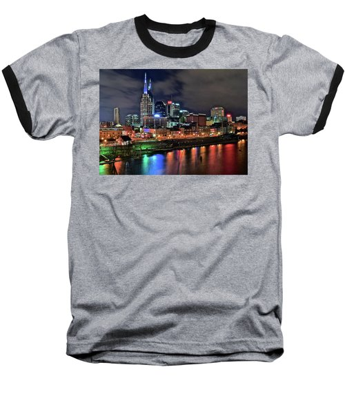 Rainbow On The River Baseball T-Shirt by Frozen in Time Fine Art Photography