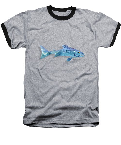 Rainbow Trout Baseball T-Shirt by Mikael Jenei