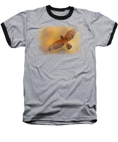 Raptor's Afternoon Flight Baseball T-Shirt by Jai Johnson