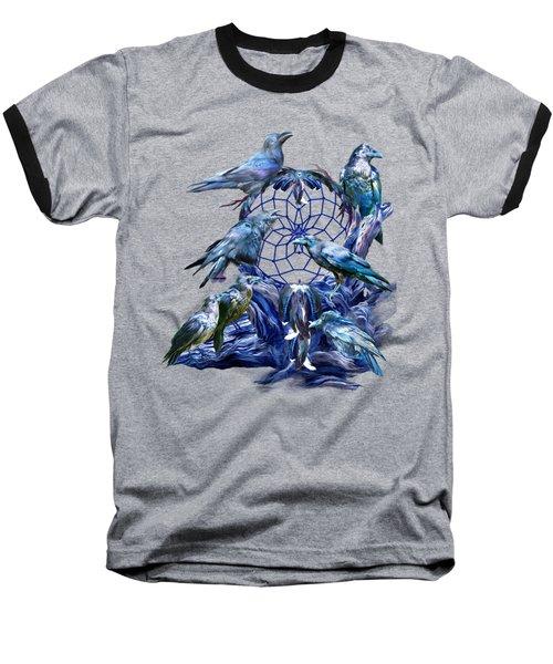 Raven Dreams Baseball T-Shirt by Carol Cavalaris