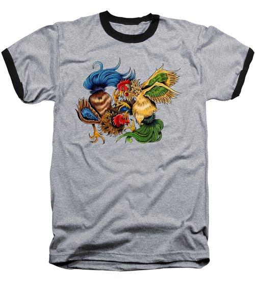 Rawkin' Cawks Baseball T-Shirt by Vicki Von Doom