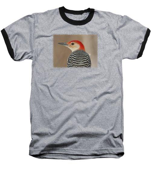 Red Bellied Woodpecker Glamour Portrait Baseball T-Shirt by John Harmon