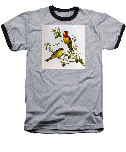 Red Headed Bunting Baseball T-Shirt by John Gould