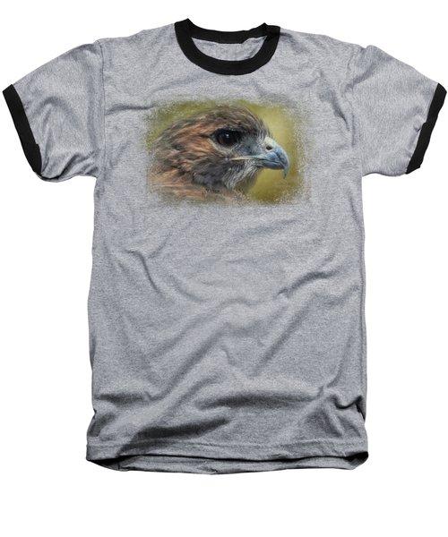 Red Tailed Hawk At Reelfoot Baseball T-Shirt by Jai Johnson