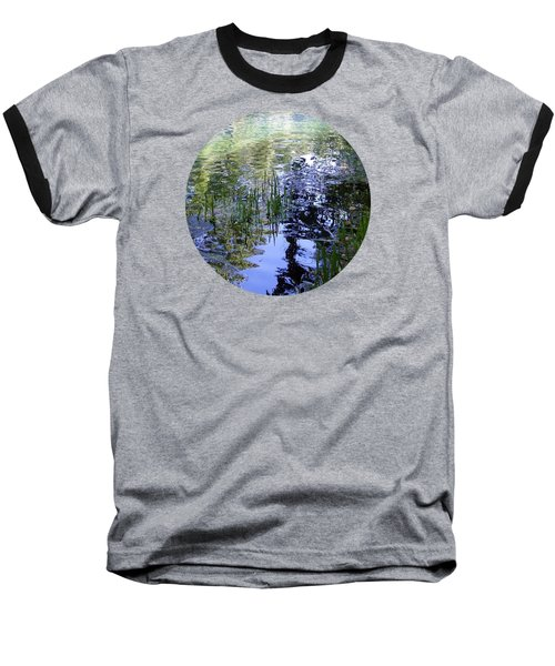 Reflections  Baseball T-Shirt by Mary Wolf