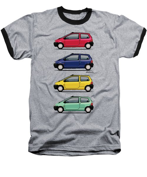 Renault Twingo 90s Colors Quartet Baseball T-Shirt by Monkey Crisis On Mars