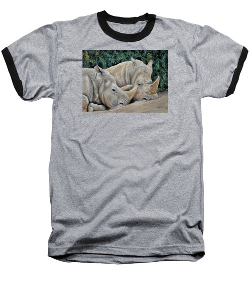 Rhinos Baseball T-Shirt by Sam Davis Johnson