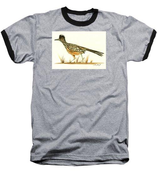 Roadrunner Bird Baseball T-Shirt by Juan Bosco