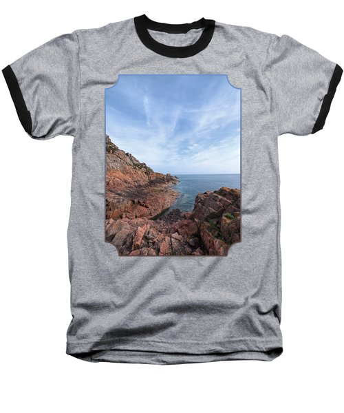 Rocky Ocean Inlet - Jersey Baseball T-Shirt by Gill Billington