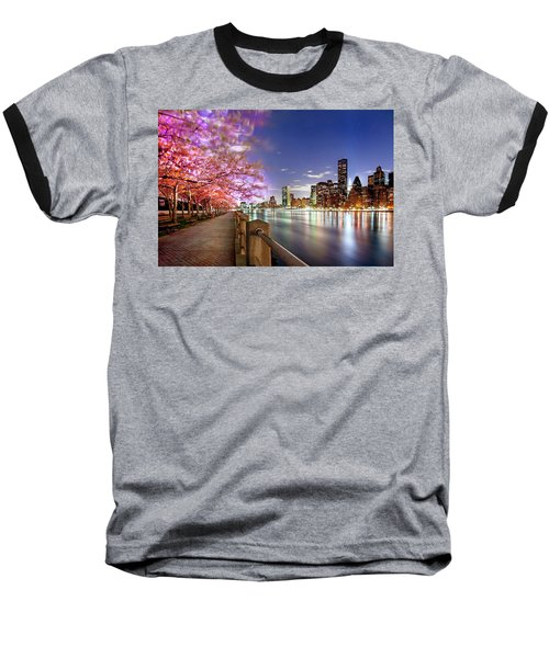 Romantic Blooms Baseball T-Shirt by Az Jackson