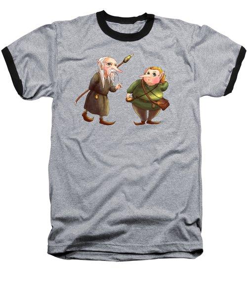 Rupert And Shuman Baseball T-Shirt by Reynold Jay