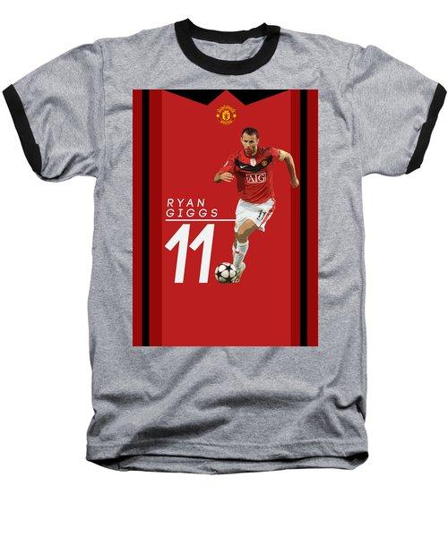 Ryan Giggs Baseball T-Shirt by Semih Yurdabak