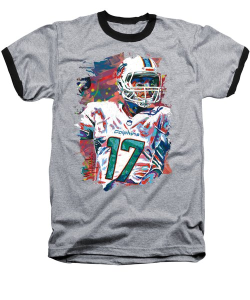 Ryan Tannehill Baseball T-Shirt by Maria Arango