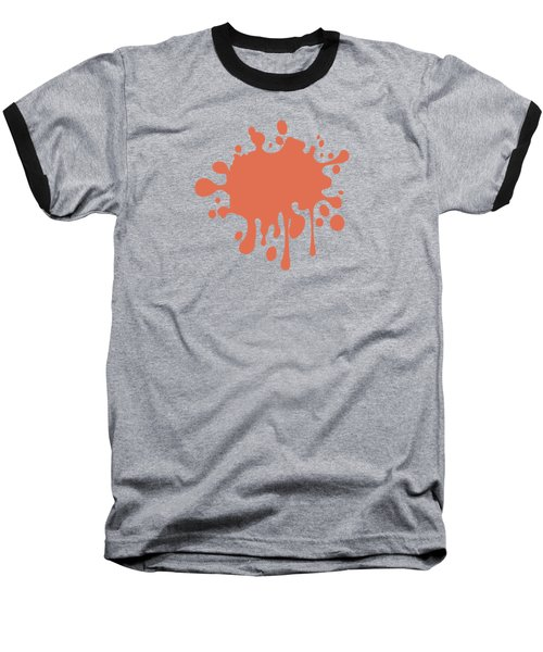 Salmon Color Accent Decor Baseball T-Shirt by Garaga Designs