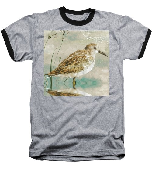 Sandpiper I Baseball T-Shirt by Mindy Sommers