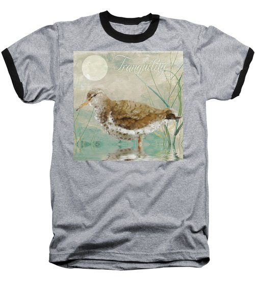 Sandpiper II Baseball T-Shirt by Mindy Sommers